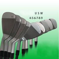 Golf Clubs G410 Irons G410 Golf Ferro Set 4-9SUW R / S / SR Eixo de Carbono e Eixo de Aço Flex Eixo com Cabeça Capa