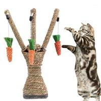Toys Cat 1PC Pet Cew Read Radish Котенок Уход за зубами Жевание Интерактивное Древо Башня Полки для подъемные рамки царапания пост Marot1