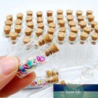 10x lege kleine kleine transparante berichtfles fles fles fles met kurk 1ml