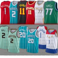 77 Doncic 2 Lamelo 20 Gordon Ball Hayward Jersey 1 Zion 11 Trae Williamson Young 77 Luka Basketball Jerseys