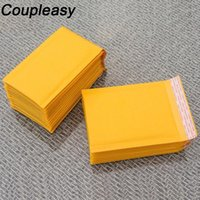 50pcs enveloppes d'expédition jaunes avec bulle kraft papier bubble mailer épaisseur écarté sacs de messagerie de courrier choisi enveloppes rembourrées1