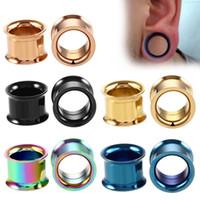 Ear Plug Kit in acciaio inox non-Screw Fit orecchio gioielli sagome delle gallerie Expander Body Piercing Flare Orecchini spine che si estende