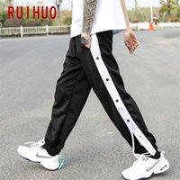 Ruihuo otoño Casual Harem Pantalones Hombres Ropa Joggers Japonés Streetwear Trabajo Pantalones Hip Hop Tacksuit Sweetpants M-3XL 201133