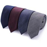 100% algodón hombres adelgazan la corbata de la tela escocesa de los juegos de los lunares corbata para los hombres Traje Azul marino hombres corbata Reduzca 26styles corbata