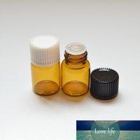 Doldurulabilir Uçucu Yağlar Parfüm Sıvı Küçük Şişe Deodorant konteynırlar için 100pcs 1ml Amber Cam Şişe