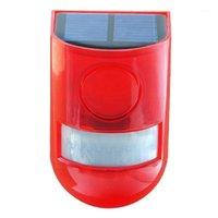 أنظمة إنذار جهاز استشعار الحركة الأشعة تحت الحمراء الشمسية مع ضوء صفارات الإنذار من صفارات الإنذار في المنزل حديقة الكربون سقيفة Carvan Security System Re1