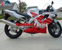 Honda Cowling CBR600 F4 CBR 600 CBRF4 600F4 MOTO Satış Sonrası Seti Kurayları Kırmızı Gri 99 00 1999 2000 (Enjeksiyon Kalıplama)