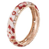 UJOY Gift Parent-Child High Quality Flower Cloisonne Bracelet Sets Beautiful Jewelry Perfect Accessories Fashion Bangle 88A11