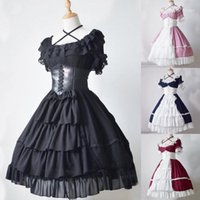 2019 neue vintage kleid vestidos mode frauen mittelalterlich vintage gothic olfkleid kuchen rock spitze krümmen kleid ropa mujer # 811