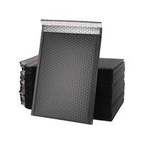 Siyah Poli Kabarcık Mailers 18 * 23 cm / 7 * 9 inç Yastıklı Zarflar Toplu Kabarcık Çizgili Wrap Boru nakliye için Paketleme Posta JK2102XB