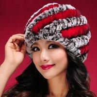 Beanie / черепные колпачки женские реальные меховые шляпа для женской натуральной кепки мода роскошь 2021