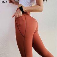 Le Nakai Orange Power Yoga Pantalones de yoga de alta residuos Perspieta Push Up Fitness Gym Tass Flex Booty Leggings Scrunch Butt Leggings Y200529