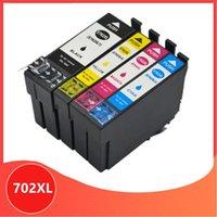 Cartuchos de tinta Cartucho compatible para 702XL 702 XL T702 Workforce Pro WF-3720 WF-3725 DWF Impresora
