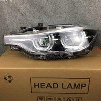 BMW 3 Serisi için Araba Styling F30 F35 Farlar 2013-2015 Çift Işın Lens Projektör Tüm LED Farlar LED DRL Dönüş Işığı