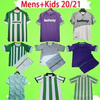Homme + Kids 20 21 Jersey de football de betis Real Joaquin Loren Boudebouz Bartra Accueil 3ème Canales Edition Fekir Retro Vintage Shirt de football