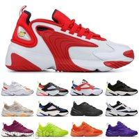2020 ZOOM M2K الرجال عارضة أحذية نساء tainers 2 كيلو Tekno 2000 الثلاثي أسود أبيض رمادي غامق مصمم رياضي أحذية رياضية BT11