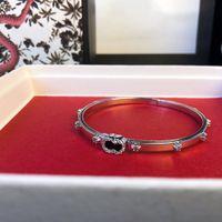 Pulseiras para mulheres 316L de aço inoxidável jóias lock v pulseiras pulseiras pulseiras pulseira de couro pulseira de prata