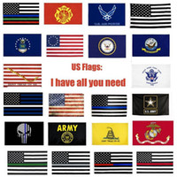 Drapeaux USA armée américaine Bannière Airforce Marine Corp Flags Marine Besty Ross Drapeau Ne marchez pas sur moi Drapeau Thin Line YYA524