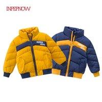 Inpepnow Causal Thick Thick Cotton-acolchado Down's Down's Down Chaqueta para chicos de abrigo de invierno Chaquetas Overoles de invierno para niñas Outerwear LJ201202