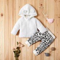 Patpat 2020 Primavera y otoño New Baby Abrigo de vellón adorable y pantalones de leopardo Pantalones de impresión Bebé niño pequeño Sets1