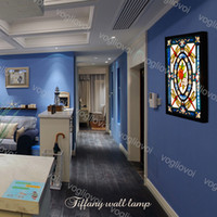 مصابيح الجدار 36 واط الشمال الرجعية المتوسطية الإبداعية الزجاج الزجاج جدارية مصباح ل معيشة غرفة الطعام غرفة نوم السرير حمام DHL