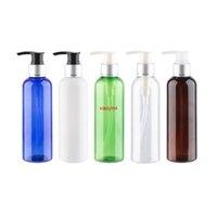 200ml x 12 Silber Aluminium Lotion Pumpe Flaschen Hohe Qualität Runde leere DIY Container für Creme Flüssigseife Pet Kosmetische Flaschegut-Paket