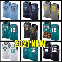 MemphisGrizzliesÉdition 2021 Men Kids City Ja 12 Morant Basketball Jerseys Jeunes Jersets Jerseys Green Blanc Jaren Jackson Jr
