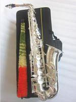 New Jupiter JAS-700Q Alt Saxophon Eb Tune-Dur Musikinstrument Messing-Silber überzogene Körper Silber Key Sax mit Koffern Mundstück