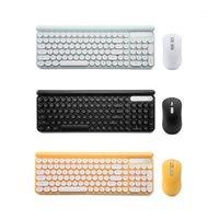 Teclado sem fio e conjunto de mouse recarregável silencioso desktop computador laptop keypad escritório casa gaming keyboard1