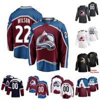 Nail encargo Yakupov Colin Wilson Erik Johnson Gabriel Landeskog Anton Lindholm Duncan Siemens 2020 jerseys del hockey cosido
