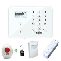 Alarmsysteme GSM Burglar Home Security System Android App gesteuerter drahtloser LCD mit SOS-Panik-Taste K9x1