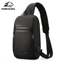 Kingsons Male Chest Crossbody Bag Small Single Shoulder Strap Back pack Casual Travel Bags Q1129