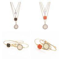 la perla de las mujeres del brazalete del encanto de calidad buena pulsera brazalete de amor collar de la joyería de las pulseras brazalete de la manera oro de 14 quilates y un brazalete