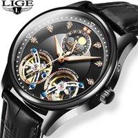 Lige 2020 Новые Автоматические механические часы Мужчины Tourbillon Спорт Часы Мода Бизнес Мужские Часы Reloj Automento de Hombre1