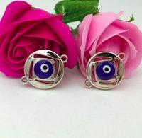 Accessori fai da te Accessori Gocciolamento CCB Turchia Evil Evil Blue Eyes Branelli di fascino Dimensioni oro 3.1x2.4x0.45cm Fit Bracciale Collana Collana Catena chiave orecchini
