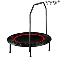 Trampolines 40 Inch Trampoline With Handle Bar For Adults Children Fitness Indoor Outdoor Bungee Rebounder Jumping Cardio Trainer1