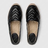 여성 나분화 신발 LuxUrys 디자이너 플랫 Espadrille 신발 Womens 쐐기 샌테인 신발 가죽 Espadrille P21020602L