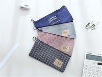 Lino Convas bolso cosmético bolsa de bolsa de almacenamiento Máscara Caja de lápiz Mujeres Grils' a prueba de polvo organizador del envase 4 estilos