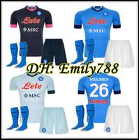 2020 2021 Serie A Napoli Napoli Pianchetti di calcio Casa Away Terza camicia da calcio 20 21 Manolas Insigne Lozano Callejón Milik Kit adulto Camiseta