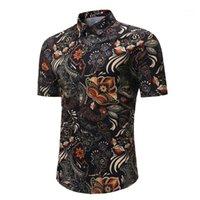 2018 camisa de hombre de moda caliente verano impresión casual de manga corta camisa hawaiana amisas masculina camisas masculinas1