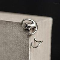Hoop Huggie Spaß-Schönheit S925 Sterling Silber übertrieben Retro Gothic Stingless Gecko Earclip Creative Reptile Trinket1