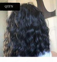 Rizado sin frente del cordón pelucas de cabello humano con explosiones Para Mujeres Negro Maching hizo pelucas Remy brasileño del pelo