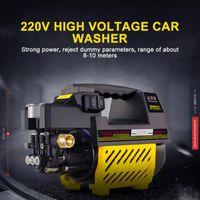 Lavadora de automóviles 220V 1800W Hogar de alta voltaje portátil Lavadora automática Bomba de presión Dispositivo de limpieza eléctrica