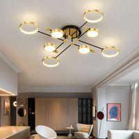 غرفة نوم حديثة LED إضاءة الثريا لغرفة المعيشة مصباح جديد الذهب الإطار الألومنيوم دروبشيبينغ لاعبا اساسيا في الأماكن المغلقة ضوء اللمعان