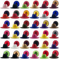 الرجال فيدورا القبعات النساء الجاز بنما قبعات السيدات واسعة بريم كاب المرقعة قبعة رجل الفتيات trilby chapeau رجل امرأة ربيع الخريف الشتاء هدية بالجملة 2021