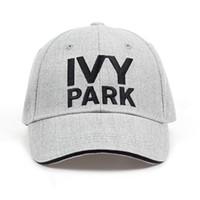 Ivy Park Baseball Cap Beyonce Style Style Style Cotone Canapa Cappello di frassino Unisex Cappellini Snapback per le donne Uomo Ricamo di marca IVYPARKX1016