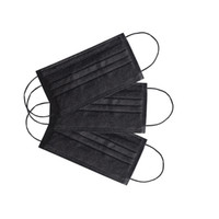 Most Popular Breathable Black Face Mask Disposable 3 ply mouth cover earloop mask for Health Protection