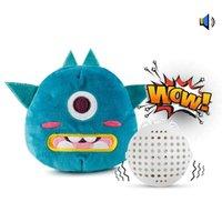 Elétrica monstro pequeno bonito Plush Toy, Animal dos desenhos animados, Vibrar fazer um som Balls, Pet Dog Toys, para ornamento, Xmas Kid presente de aniversário, 2-1