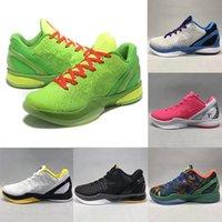 جديد أسود مامبا السادس 6 جرين الرجال الرياضة ZK6 فكر الوردي الأخضر ستيلرز أحذية رجالي كرة السلة صياغة مدربين مرصود 40-46