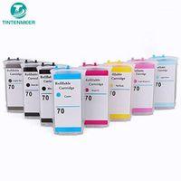 Kits de recarga de tinta Cartucho recargable Tintenmeer con chip de restablecimiento automático 70 para Z2100 Z3100 Z3200 Z5200 Z5400 6 u 8 Color Set1